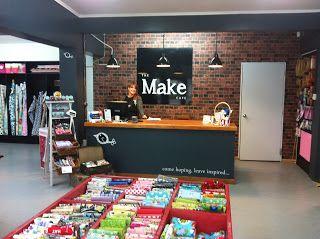the make cafe blog craft room ideas cafe shop fabric shop haberdashery. Black Bedroom Furniture Sets. Home Design Ideas