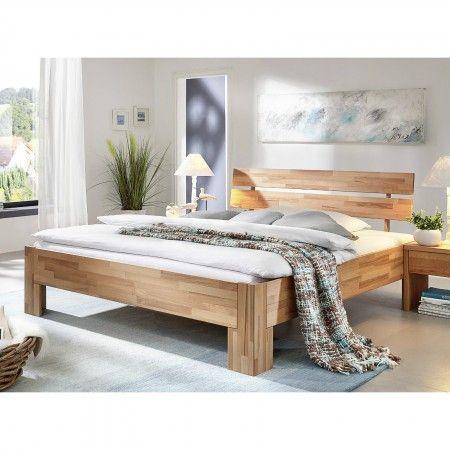 dieses doppelbett aus massiver kernbuche ladt zum traumen und entspannen ein