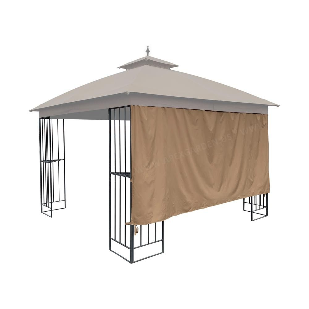 Apex Garden Universal 10 Ft Gazebo Privacy Screen Curtain 1 Side Wall Only 98996330 R The Home Depot In 2020 Gazebo Privacy Privacy Panels Gazebo