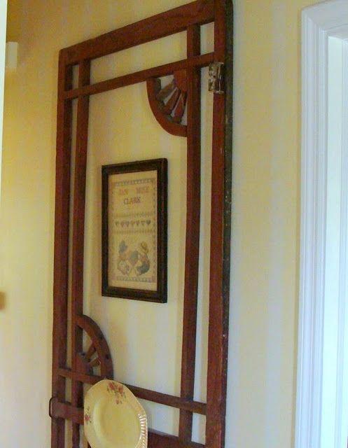 Old Screen Door Hanging In Hallway