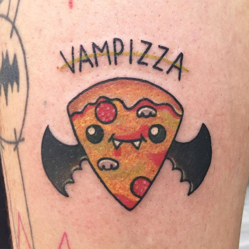 42 Unique Bat Tattoo Designs Ideas Pizza Tattoo Halloween Tattoos Bat Tattoo