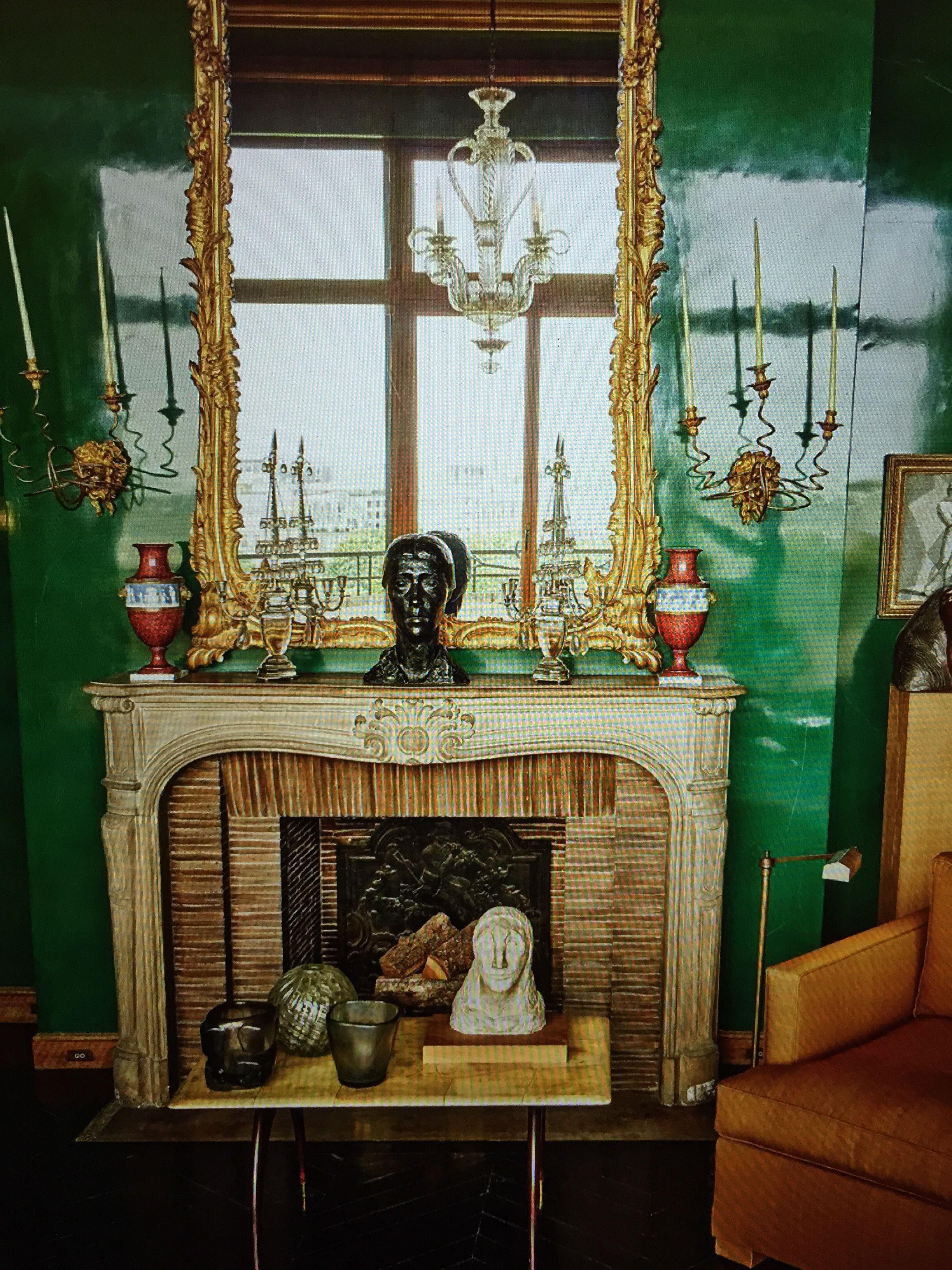 Green lacquer! AD France Green rooms, Interior, Interior