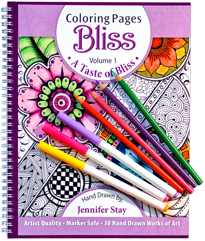 Volume 1 Coloring Book For Adults And Grown Ups This Artist Quality Was Hand Drawn By Jennifer Stay