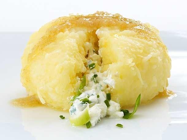 Photo of Kartoffelknödel mit Frischkäse-Lauchzwiebelfüllung