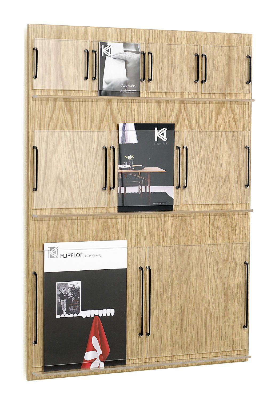Wall mounted brochure display rack - RIDÅ by Joel Karlsson - KARL ...