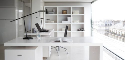 Black And White Office | White Office Furniture For Good Environment |  Modern Home Furniture