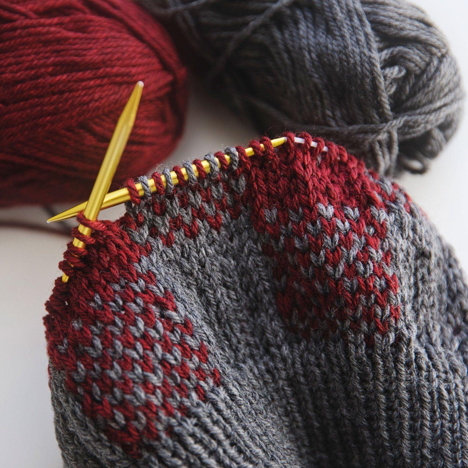 Buffalo Plaid Hat Knitting Pattern #bonnets