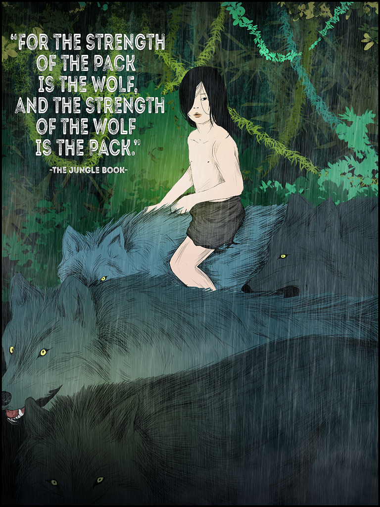 """Jungle Book Quotes The Jungle Book """"strength Of The Wolf"""" Quote Poster  Strength"""