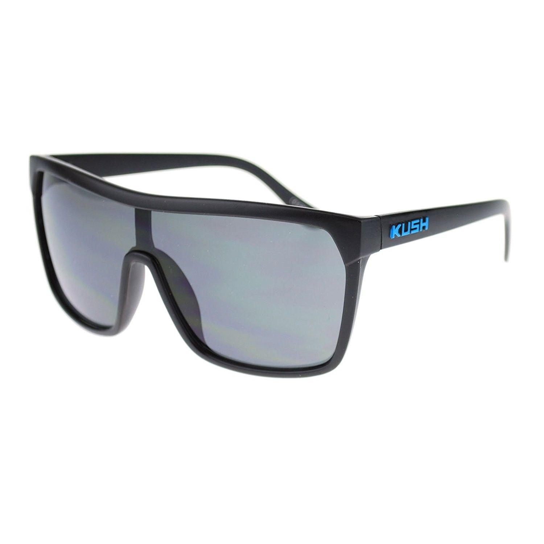 e3878d3bb20 Kush Marijuana Pot Flat Top Shield Mobster Plastic Sunglasses ...