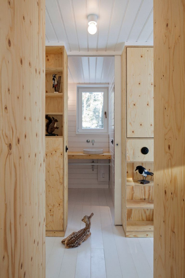 Gallery A Gingerbread House In The Forest Atelier St Small House Bliss Plywood Interior Forest House Scandinavia Design