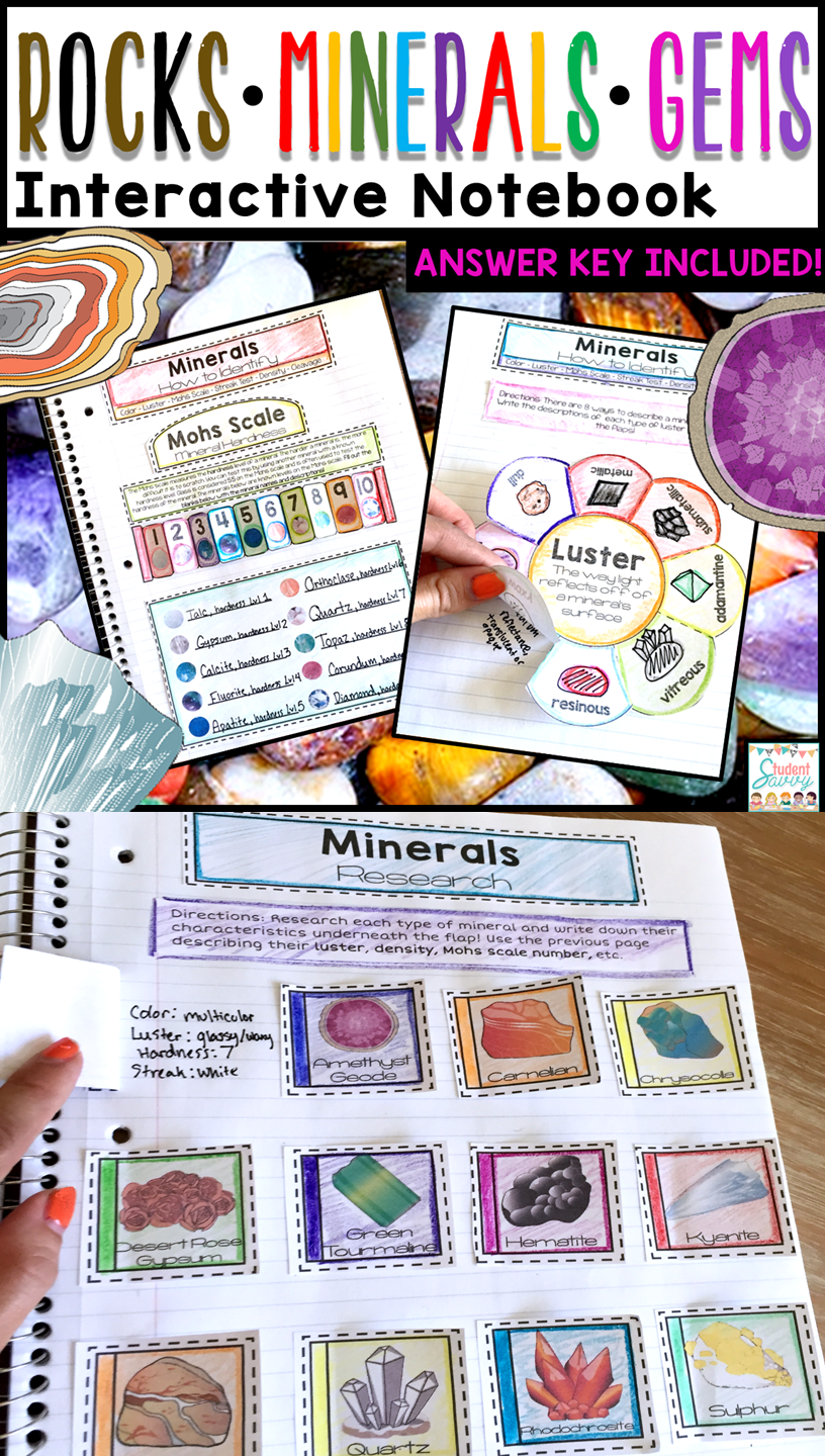 Rocks and Minerals Interactive Notebook | Earth science, Geology ...