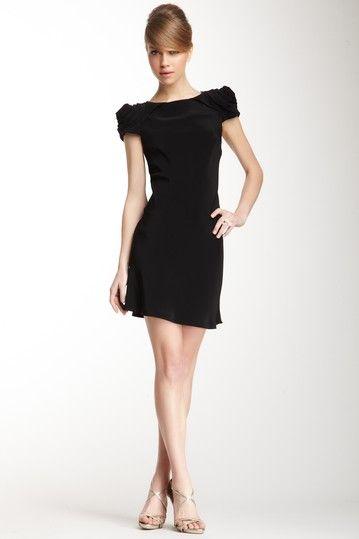 Abs rosette dress black