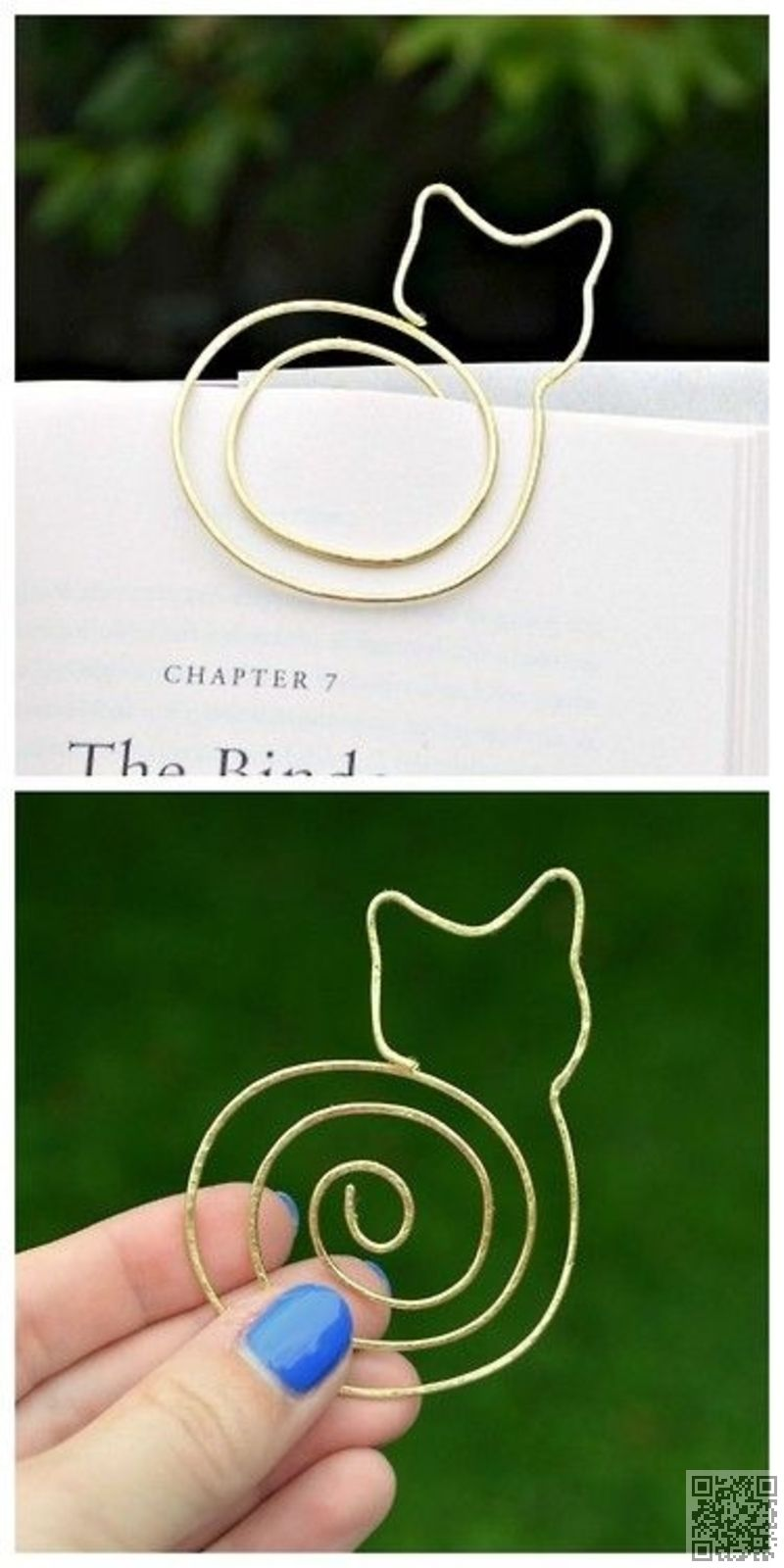 13. DIY Cat #Bookmark - 33 Awesome Wire #Crafts to Make Cool Stuff ...
