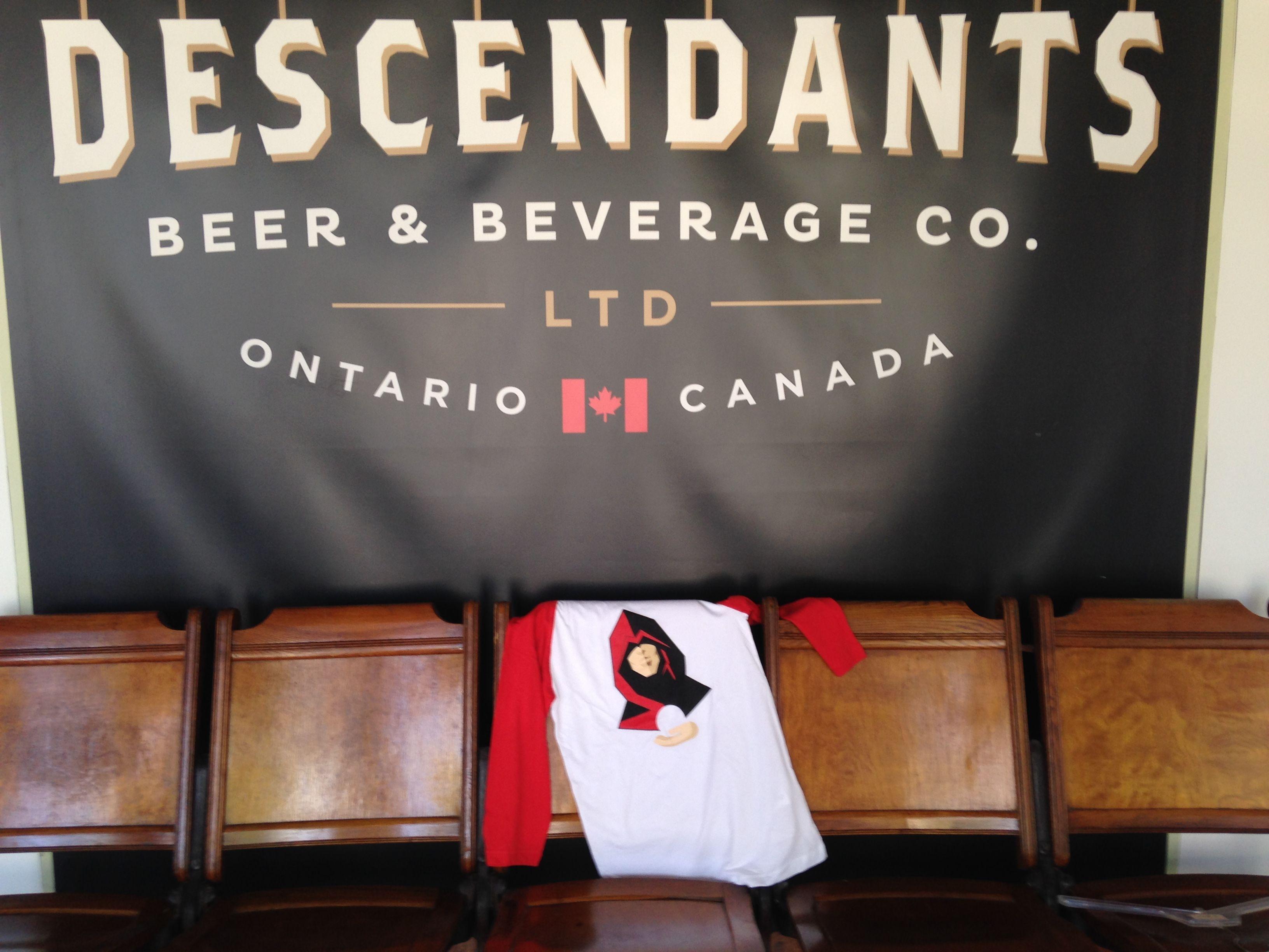 Antique Theatre Chairs at Descendants Beer & Beverage Co