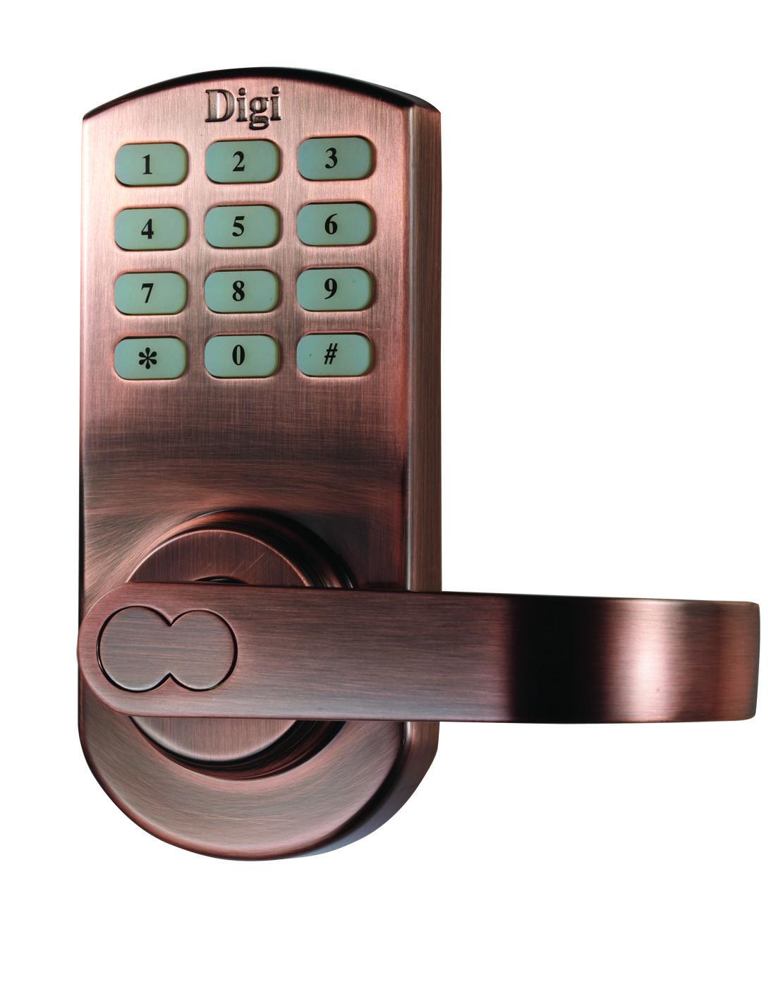 Digi Digital Electronic Keypad Door Password Open Mechanical Keys Gold Lock Keyless 6600 209 Antique Copperspecial Color Requirement Accepted Digifingerprint Doorlock Satin Chrome Handdoor