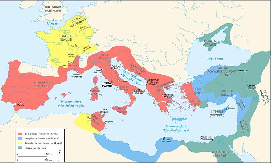 carte de rome antique Histoire   Rome   Jules César : du triomphe à la chute (With