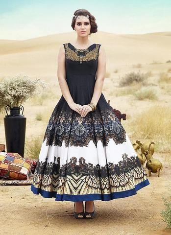 Black Shantoon A Line Anarkali Indian Party Wear Salwar Suit ,Indian ...