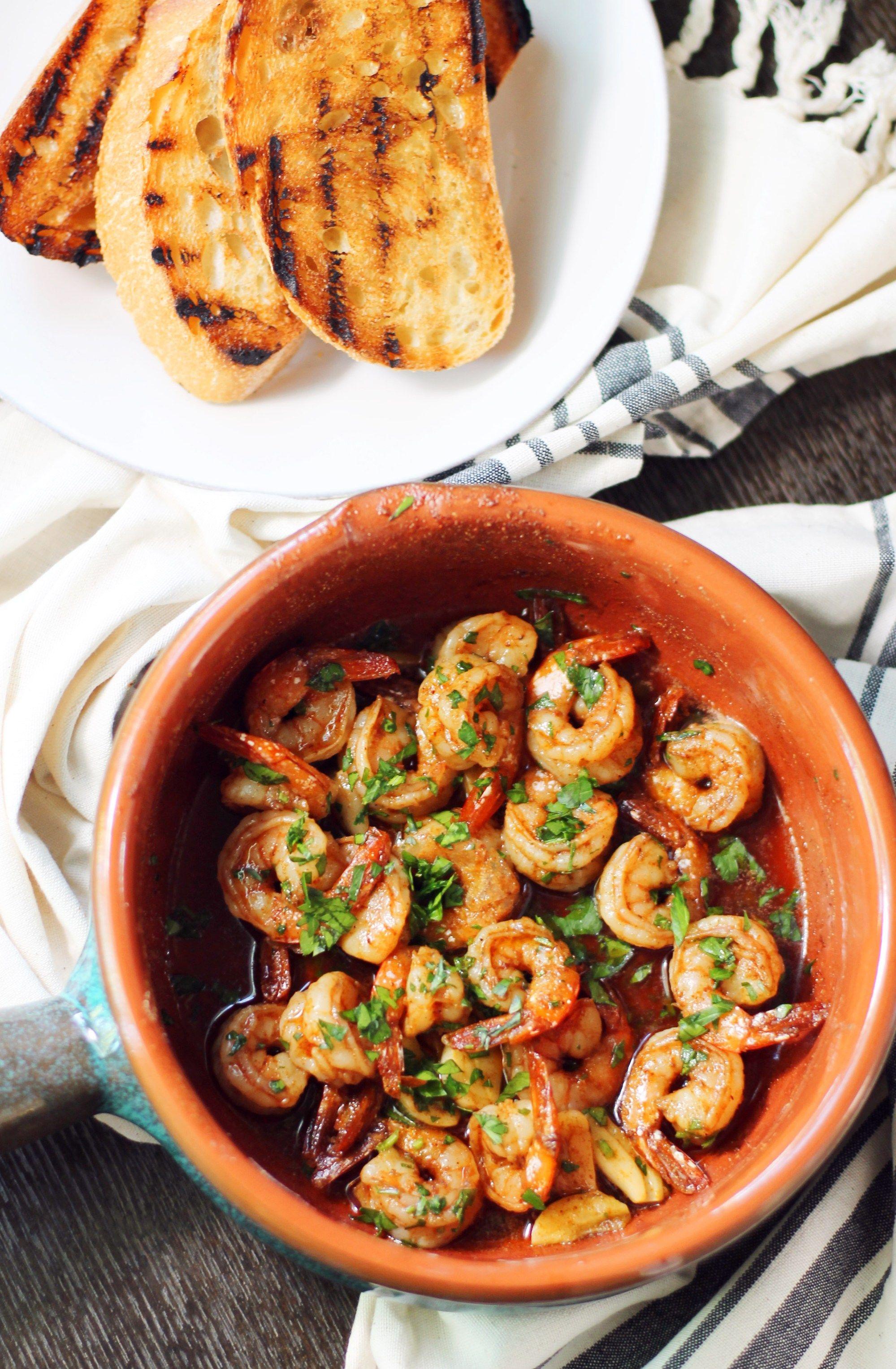 Spanish Shrimp #spanishmeals