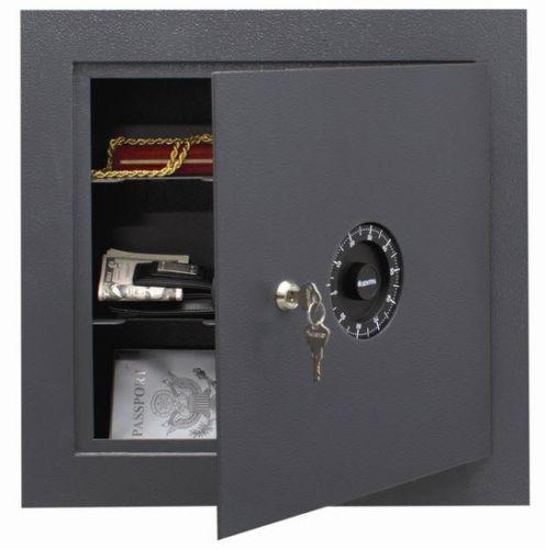 Flush Mount Safe In Wall Reversible Door Steel Hidden Security Lock Home Safes Wall Safe Dial Lock Combination Safe