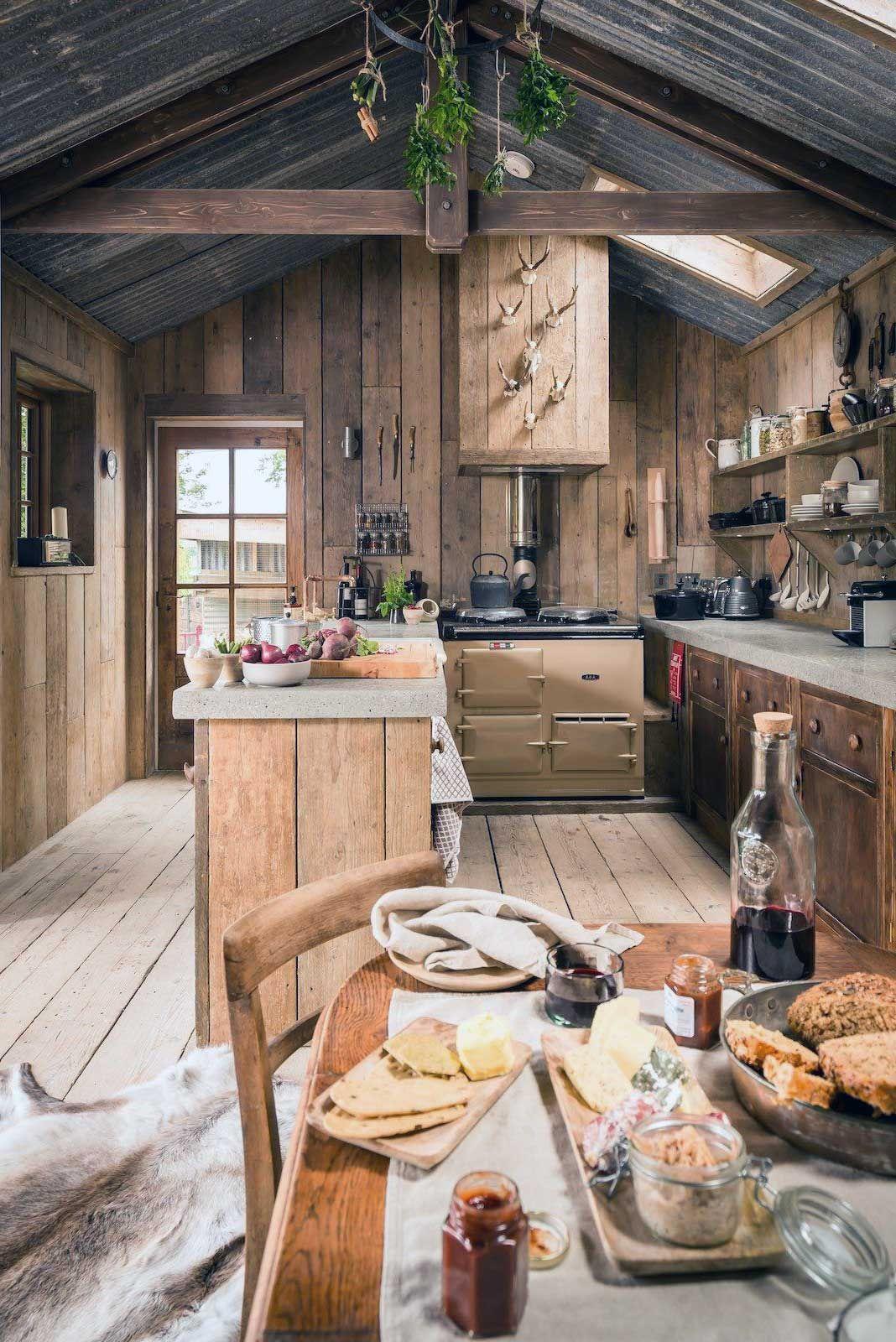 luxury log home kitchens