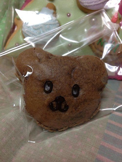 ぼく、クマカロン。byパウンドハウス京都 長旅でつぶれちゃった 。 Desserts Cookies