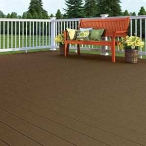 Veranda 15 16 In X 5 1 4 In X 12 Ft Brown Square Edge Capped Composite Decking Board Brdvc B 12 The Home Depot Composite Decking Composite Decking Boards Deck