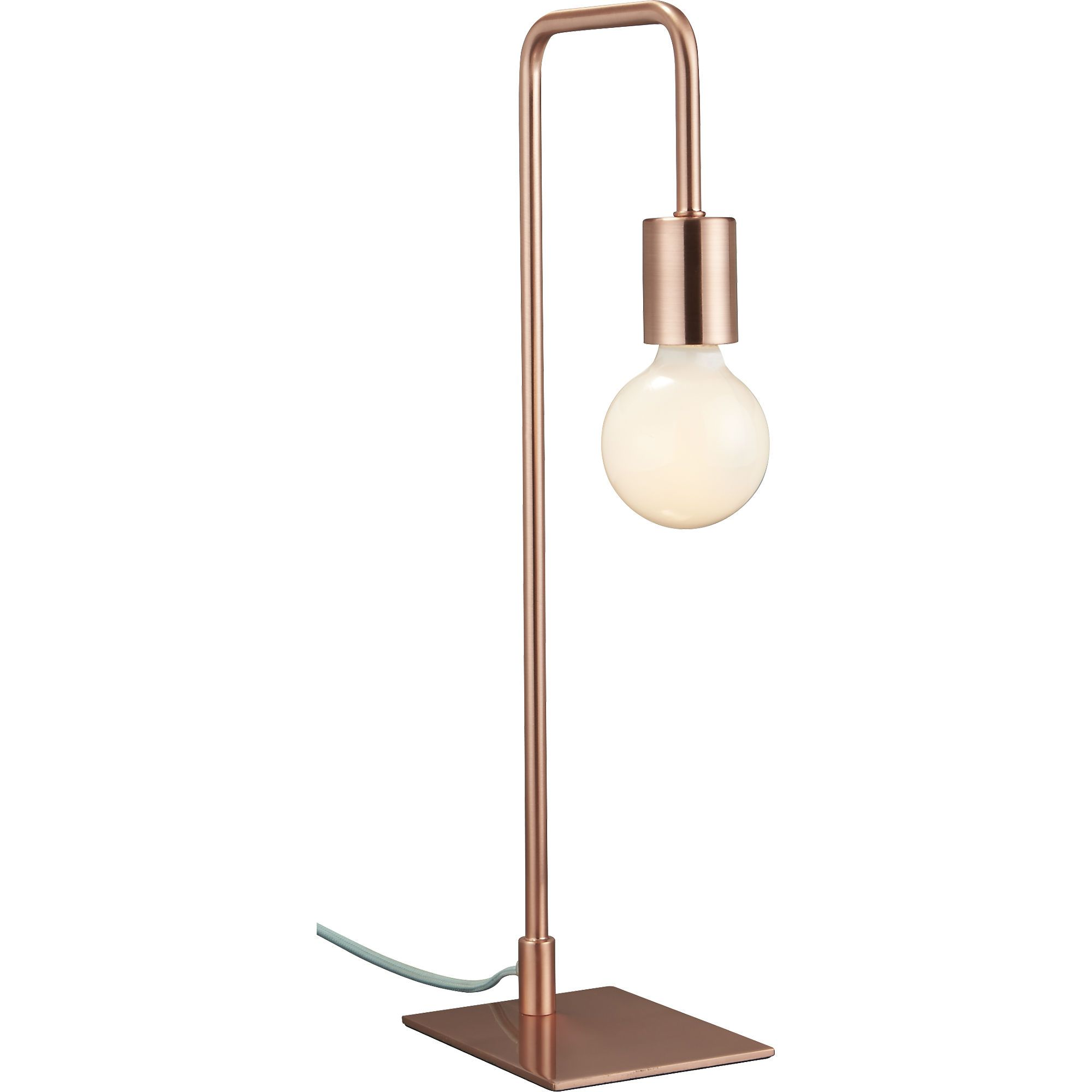 Elegant Arc Copper Table Lamp