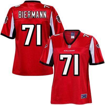 Pro Line Women s Atlanta Falcons Kroy Biermann Team Color Jersey ... 7795349f7