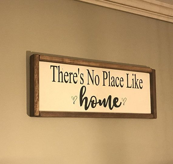 There\'s No Place Like Home Rustic Wooden Wall Sign.   Rustic Decor ...