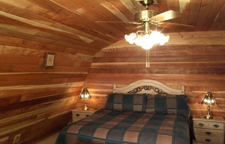 log cabin look interior walls 3d house drawing