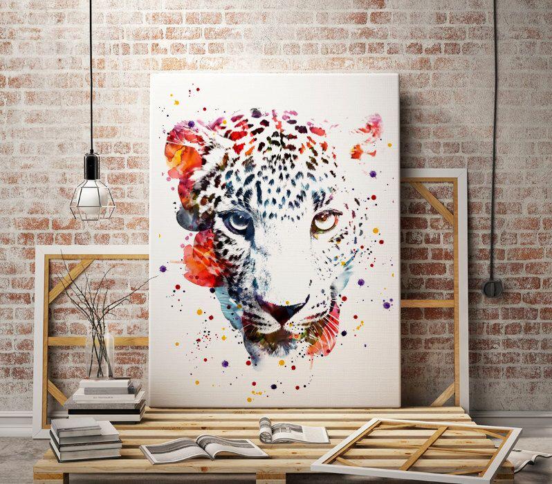 Watercolor jaguar art print - animal print  - panter abstract poster - illustration -Digital wall art Print - painting - Home decor by WatercolorMary on Etsy https://www.etsy.com/listing/268496877/watercolor-jaguar-art-print-animal-print
