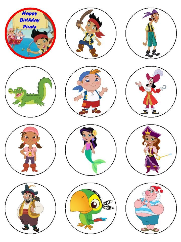 Printable Jake and the Neverland Pirates Cupcake Toppers - Pesquisa ...