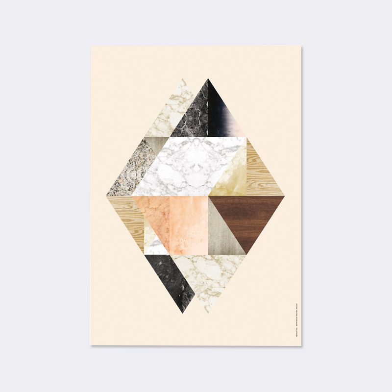 Scantrends ferm living harlequin twin illustrations by kristina krogh wall art