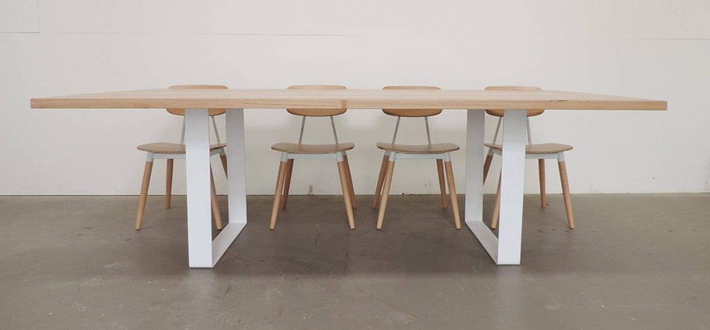Wooden Furniture Legs Australia scandinavian dining table - rust furniture australia - bespoke