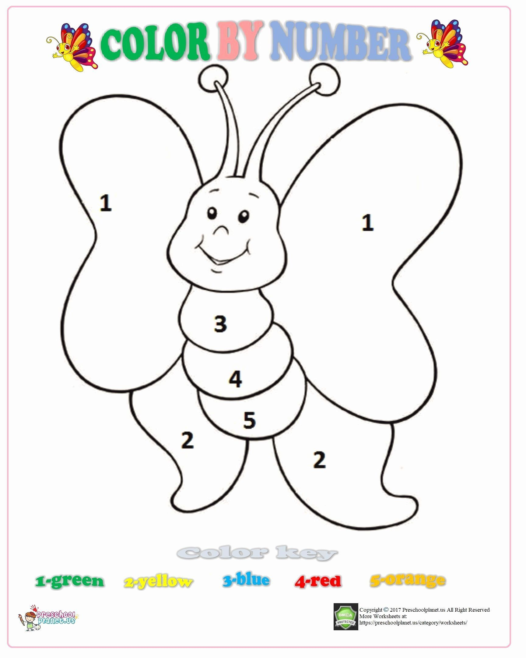 Butterfly Worksheets For Kindergarten In