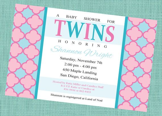 Twins Baby Shower Invitation Boy And Girl Gender Unknown Printable Baby Shower Invitation Wording Twins Baby Shower Baby Shower Invitations