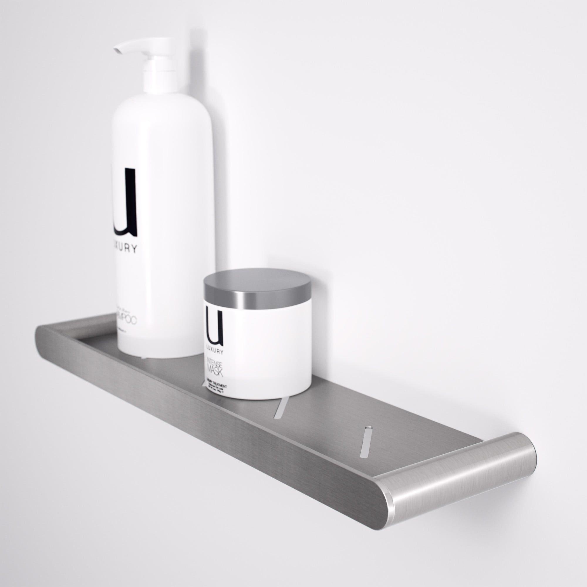 lusso luxe bathroom shower shelf brushed stainless 430 home rh pinterest com