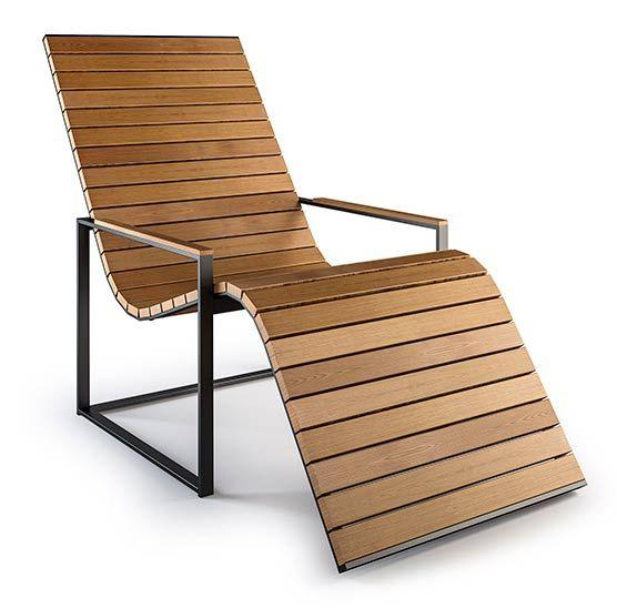 Garden Sun Chair Solstol I Teak Fran Roshults Utemobler