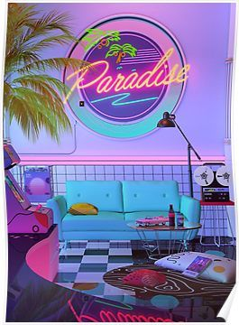 'Paradise Wave' Poster by dennybusyet