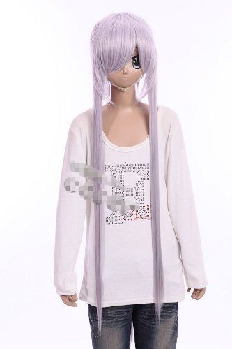 888a3dc196fc9 Cosplay Wigs Anime Wigs Cosplay light purple wig BRAVE10 wig costume lace  front long wig for
