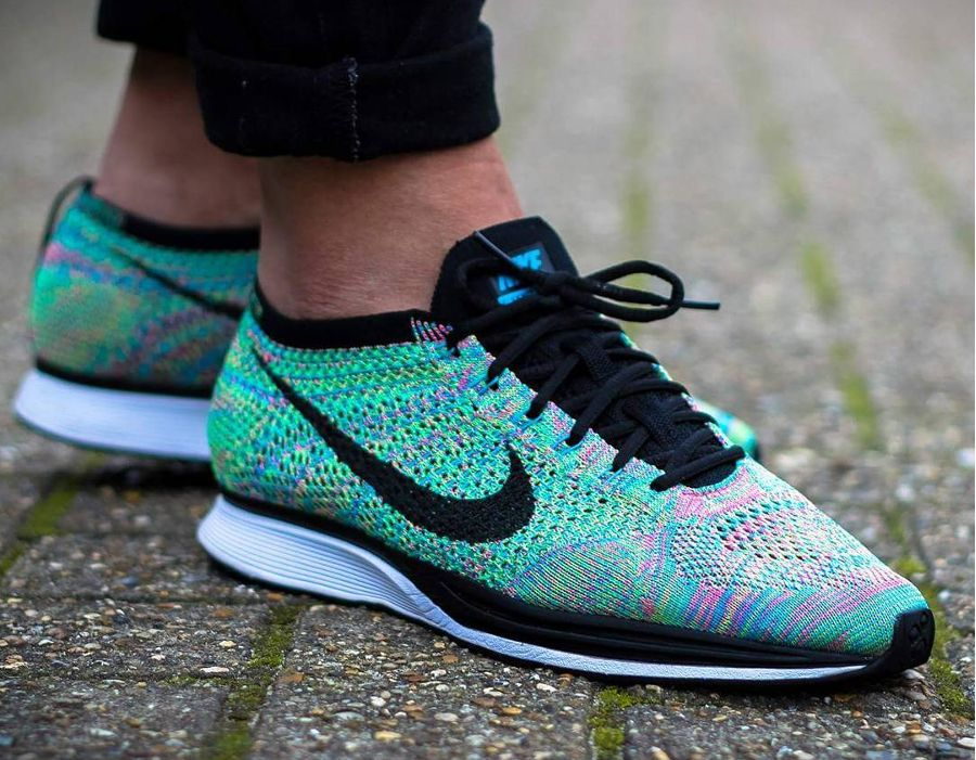 the best attitude ebc0c 435db Chaussure Nike Flyknit Racer Rainbow Multicolor 2.0 2017 (2)