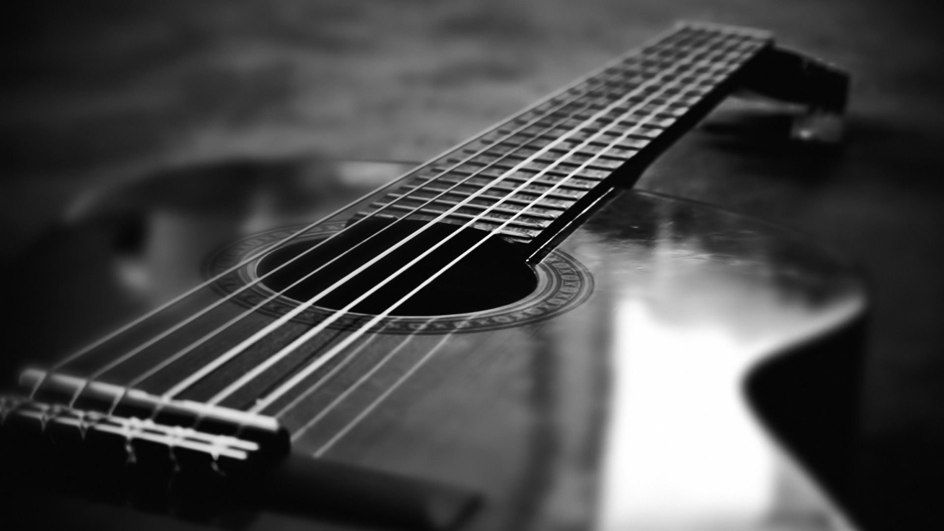 Hd wallpaper black and white - Black And White Guitar Hd Wallpapers