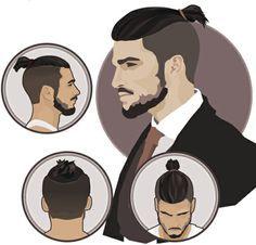 Types de coiffures pour hommes avec une queue