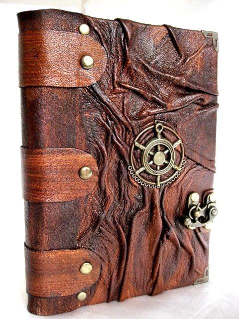 Luxury handmade vintage look blank leather journal ...