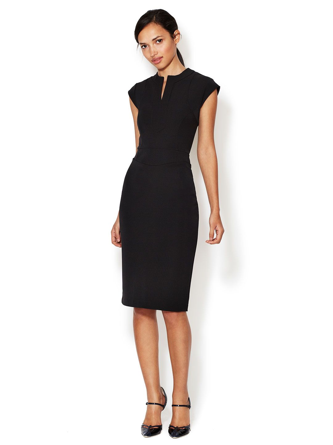 5152302832 LRK Emma Split Crewneck Sheath Dress