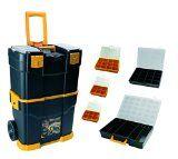 Art Plast 6700R3060 Fahrbarer Werkzeugkoffer aus Kunststoff mit Set aus passenden Werkzeugkoffern Schwarz/Gelb/Transparent $(n)!#