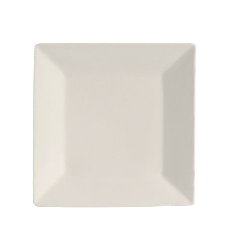 Cac China Re-Sq6 Square 6-Inch American White Stoneware Square Plate ...
