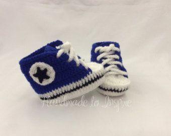 Explore Baby Nike, Crochet Converse, and more! Crochet Nike ganchillo de la  zapatilla por Handmade2Inspire en Etsy
