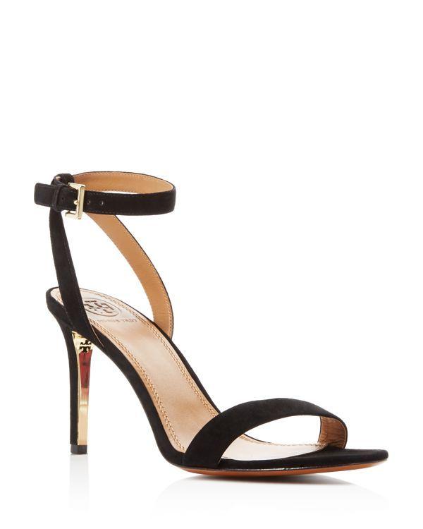 c858ea263 Tory Burch Elana Suede Ankle Strap High Heel Sandals