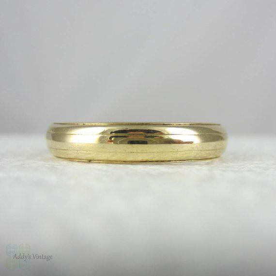 Vintage Mens Wedding Band Granat Brothers Wedding Ring in 14